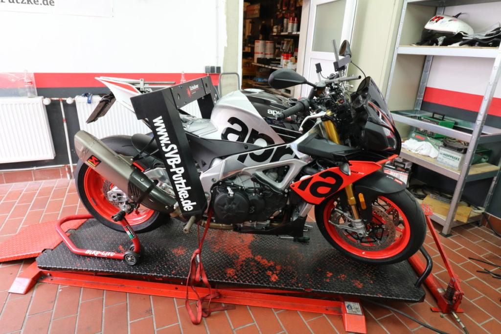 Motorrad Rahmenvermessung